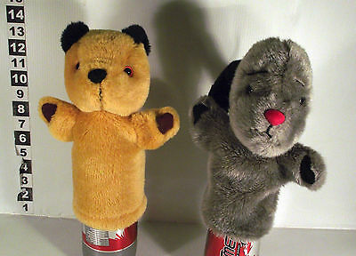 """2 x 10""""  HAND GLOVE  PUPPET TOY - SOOTY & SWEEP"""