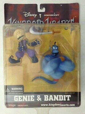 Disney/Square KINGDOM HEARTS, GENIE (from Aladdin) & BANDIT action figures, new