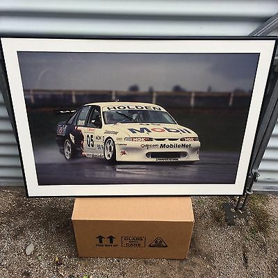 V8 SUPERCARS  -large  framed print/photo Peter Brock