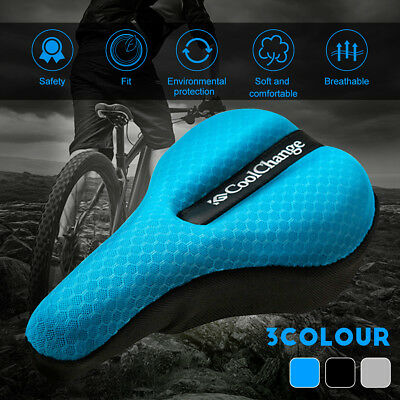 Bicycle Soft Saddle Pad Cushion Silicone Soft Bike Seat Cover Case Cycling Sport