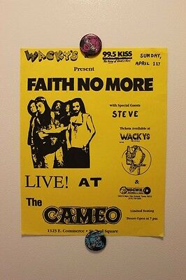 FAITH NO MORE San Antonio TEXAS (1990) Vintage concert flyer poster mr bungle