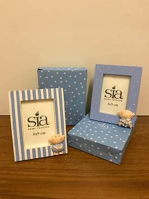 Sia 6 x 9 cm Baby Photo Frame Choice of 2 Designs Ideal Christening / Baby Gift