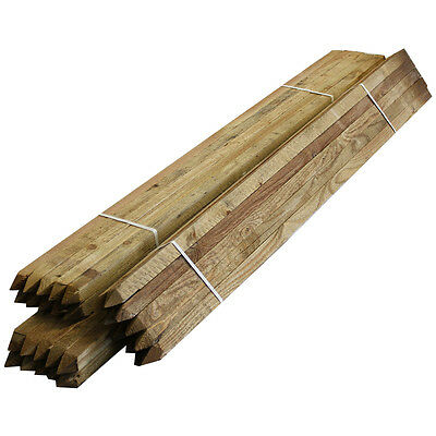 Tree Stakes 10 Pack Timber Wood Posts 1.5m Square Pegs 32mm Wide Garden Support