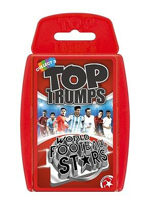 Top Trumps World Football Stars Card Game New Version Brand New