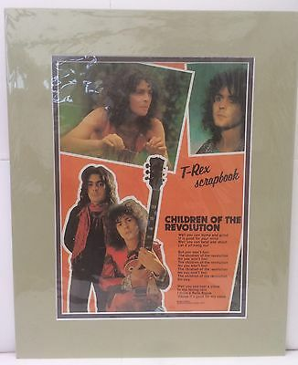 T-Rex - Children of the Revolution - Rare Original 1970's Lyrics Poster. Mounted