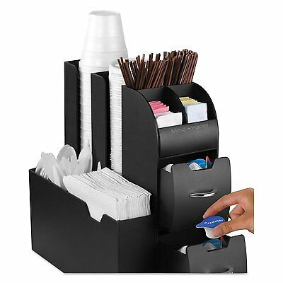 Cup and Lid Holder Organizer Coffee Caddy Station Office Home Rack Dispenser New