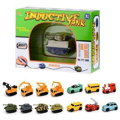 New Follow Any Drawn Line Magic Pen Inductive Toy Car Truck Bus Tank Model  AD