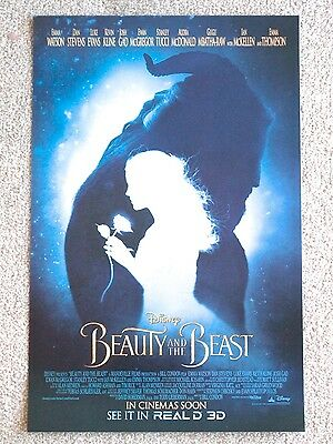 Disney Beauty and the Beast limited edition mini poster. Emma Watson