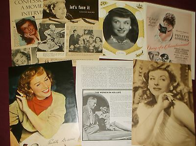 Paulette Goddard - Clippings