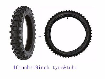 70/100-19'' Front+90/100-16''REAR TYRE&TUBE for 150cc Dirt Pit Bike Motorcycle