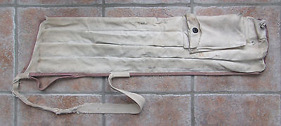 Antique Vintage Canvas Sunday Golf Bag With Individual Club Holders Wood Shaft