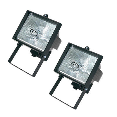 Set Of 2 Draper 400W 230V Halogen Lamp Wall Mounting Security Light Floodlights