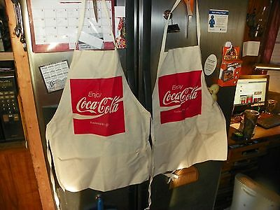 vintage coca cola aprons lot of 2coke aprons