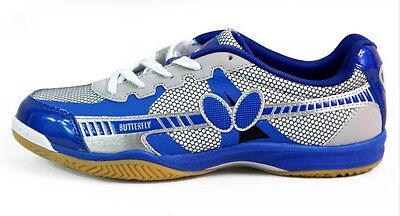 Butterfly Ping Pong/Table Tennis Shoes/Trainers  UTOP-6, Blue, New, UK