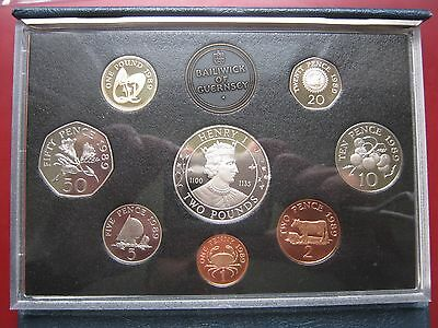 Guernsey 1989 Royal Mint Proof 8 Coin Set coinage Collection 1 Penny - 2 Pound