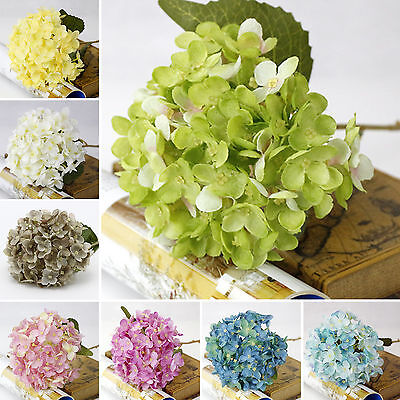 1pc Artificial Hydrangea Silk Flower Bouquet Party Floral Wedding Room Decor Neu