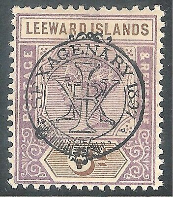 Leeward Islands 1897 Jubilee mauve/brown 6d crown CA mint SG13