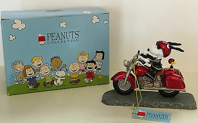 """Peanuts Collection """"Joe Cool on a Motorcycle"""" Westland Giftware #8224 w/ box"""
