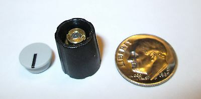 3 mm SHAFT COLLET KNOBS W/CAP  11 MM  SIFAM/SELCO  S110-003  BLACK  NOS