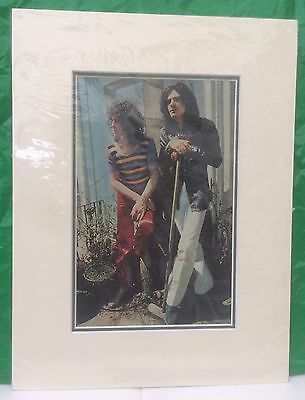 T-Rex - Rare Original 1970's Band Picture/Poster. Mounted