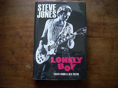 Lonely Boy by Steve Jones. Signed UK first edition 1/1
