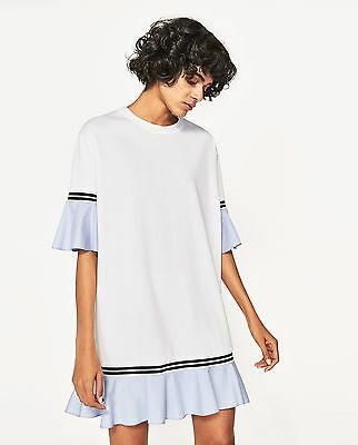 ZARA *White Dress With Frilled Sleeves* SIZE_S_M_L