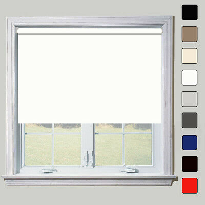 Thermal Blackout Roller Blinds - Upto 240cm Widths - Free Cut To Size Service