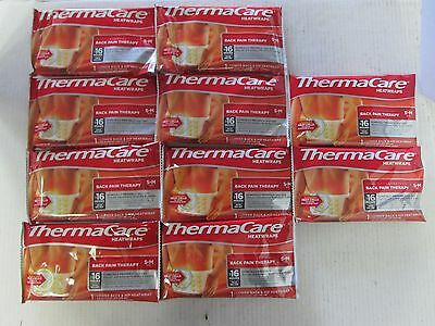 10 Thermacare Heatwraps Advanced Back Pain Therapy S-M Size Exp 12/17 Ll 4292