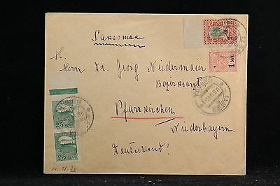 Estonia: 1920 Cover, 4 Imperforate Stamps, 2 with Overprints