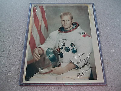 Robert Overmyer Autographed Vintage NASA Red # 8X10 Photo