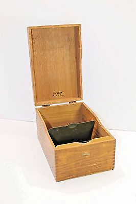 Vintage GLOBE WERNICKE # 7410 C Oak Card File Dovetail WOOD BOX