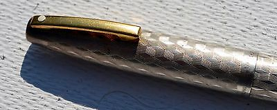A Rare Sheaffer Imperial 834 Solid Sterling Silver Fountain Pen USA - 14k Nib