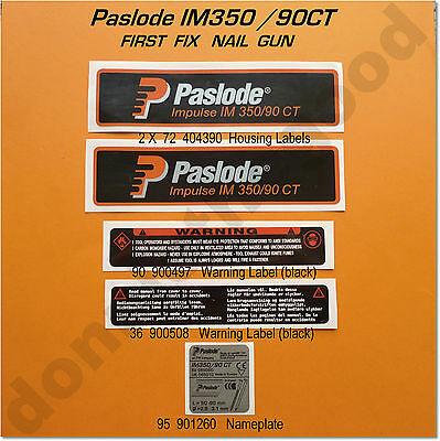 Labels And Stickers. Full Set. Paslode Im350
