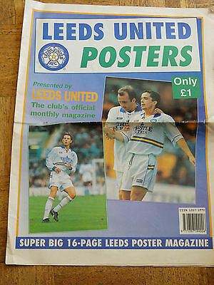 Leeds United 16 page Super Big 16 Page Poster magazine dated from early 1990's