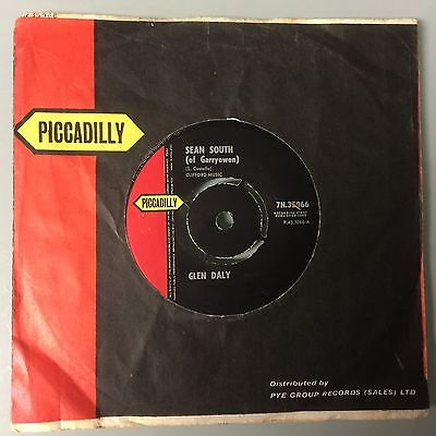 """7""""  Glen Daly - Sean South Of Garryowen (Piccadilly Uk 1962) The Celtic Song"""