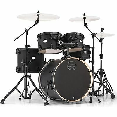 Mapex Mars 5-Piece Fusion Shell Pack - Nightwood with Black Hardware