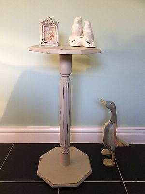 Annie Sloan vintage small side/end table plant stand, telephone/occasional table