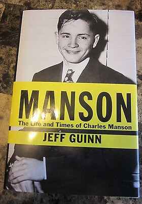 MANSON Jeff Guinn The Life and Times of Charles Manson hardcover unread
