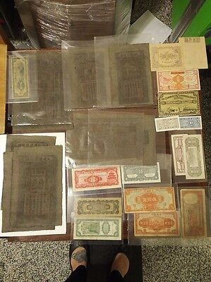 10 Ultra Rare Old Chinese Banknotes. Scrolls Other Notes 23 ITEMS! NO RESERVE!