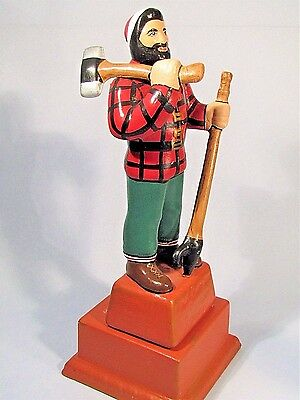 Vintage Paul Bunyon Statue Bangor Maine Ceramic Souvenir Roadside Monument Cool!