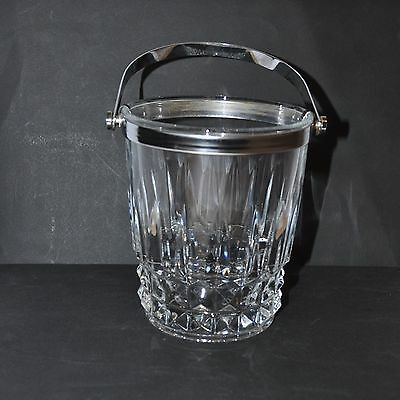 "Crystal D Arques Ice Bucket Stands 5.5"" Tall"