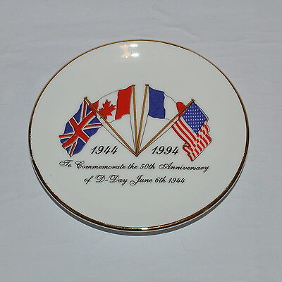M G China Plate To Commemorate The 50Th Anniversary Of D Day June 6Th 1944