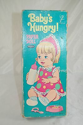 Whitman 1967 Baby's Hungry! Paper Dolls with Box #464359