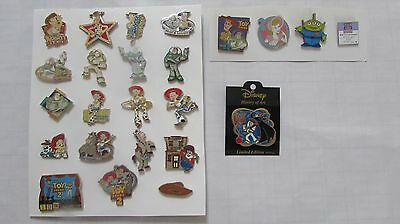 DISNEY PIN LOT of 24 TOY STORY WOODY BUZZ JESSIE some are limited edition LE