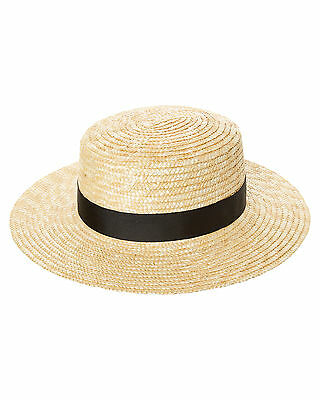 New Lack Of Color Women's The Spencer Boater Hat Natural