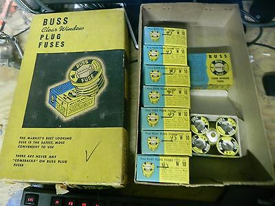 F2t W-10 Amp FAST ACTING Plug Fuse BUSS Bussmann NEW Fuses 125Vac LOT of 45