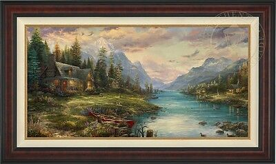 Thomas Kinkade Studios Father's Perfect Day 24 x 48 LE G/P Framed Canvas
