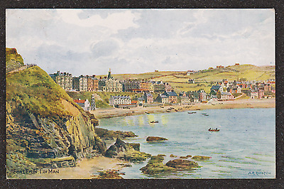 1938 ISLE OF MAN PORT ERIN A.R QUINTON POSTCARD ARQ, SALMON SERIES No 1970
