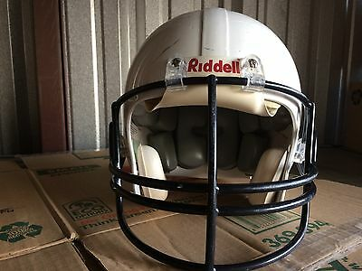 1 helmet Riddell  or Schutt White Football  Large or med With Ear Pads