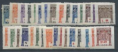 Canada Revenue Bct64/bct187 31 Stamps